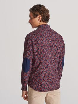 Рубашка RESERVED Синий с принтом xb714-33x