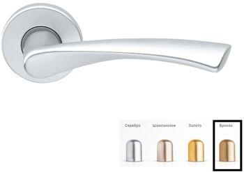 Дверная ручка на розетке Milano-F4 бронза