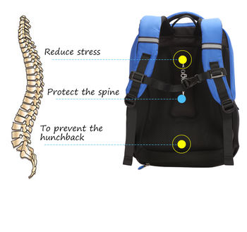 купить Школьный рюкзак для детей Aoking B90443, синий в Кишинёве