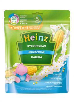 Каша Heinz Омега3 кукурузная с молоком, с 5месяцев, 200г