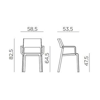 Кресло Nardi TRILL ARMCHAIR ROSA BOUQUET 40250.08.000 (Кресло для сада и террасы)