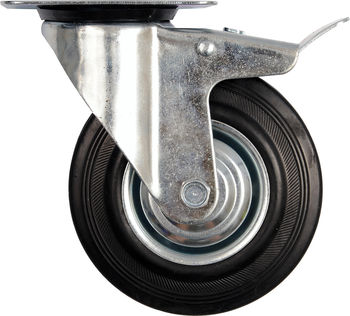 купить Колесо поворотное с тормозом Ø 160 - 03830160 в Кишинёве
