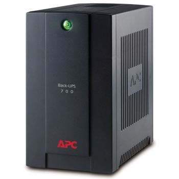 APC BX700UI Back-UPS 700VA/390Watts, AVR, 230V, 4 IEC Sockets (Battery Backup), Interface Port USB, RJ-11 Modem/Fax/DSL protection