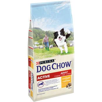 купить DOG CHOW Active 14kg для взрослых активных собак, с курицей в Кишинёве