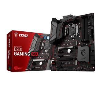 MSI B250 GAMING M3, Socket 1151, Intel® B250, Dual 4xDDR4-2400, 2xPCIe X16, CPU Intel graphics, DVI, HDMI, 6xSATA3, 2xM.2 slot, 4xPCIe X1, ALC1220 7.1ch HDA, GigabitLAN, 1xUSB3.1/Type-C, 1xUSB3.1 Gen 2, 6xUSB3.1, Mystic Light, MC 5, ATX