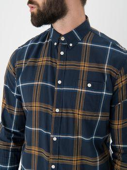 Рубашка TOM TAILOR Темно синий в клетку 1013519 19425