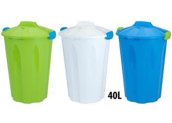 Ведро для мусора 40l, H60cm, D40cm