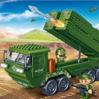 BanBao 6205 Anti-Aircraft Launcher Truck - 308 blocks