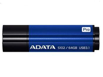 купить 64GB Flash Drive ADATA S102 Pro Titanium-Blue в Кишинёве