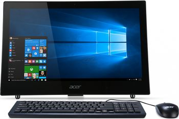 "All-in-One PC - 18.5""  ACER Aspire Z1-602 (DQ.B3VME.001) Intel® Celeron® J3060 up to 2,48 GHz, 4Gb DDR3 RAM, 500Gb HDD, no ODD, Card Reader, Intel® HD Integrated Graphics, Wi-Fi, Gigabit LAN, 65W PSU, FreeDOS, USB KB/MS, Black"