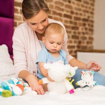 cumpără BabyOno Jucărie îmbrățișări Lama şi  Rita 35 cm în Chișinău