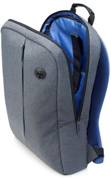 """HP NB backpack 15.6"""" - Value Backpack (K0B39AA), Designed for daily comfort with breathable mesh covered, padded, ergonomically shaped, adjustable shoulder straps and fully padded back panel, 310 x 100 x 445 mm ; Grey"""