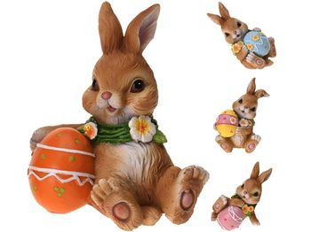 """Сувенир пасхальный """"Кролик с яйцом"""" 10X7X6cm, 4 дизайна"""