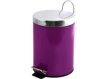 Ведро для мусора с педалью 3l фиолетовое, нерж сталь