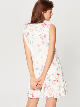 Платье MOHITO Белый с принтом ul363