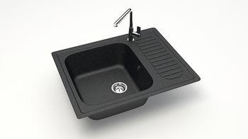 купить Матовые кухонные мойки из литьевого мрамора  (черный.) F015Q4 в Кишинёве