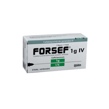 cumpără Forsef 1g pulb.+solv.sol.inj. i./v. N1 în Chișinău