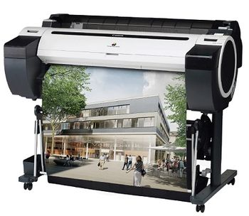"""Plotter Canon imagePROGRAF iPF780, Net, 36""""/A0/914.4mm, CAD/GIS, 2400x1200dpi_4pl, 32GB,print head PF-04, 5 tank:MBK/BK/C/Y, PFI-107/207_130/300ml/starter 90ml, Maint Cartr MC-10,1304(W)x877(D)x1062(H)mm, W 68kg, One roll, front-loading, front output"""
