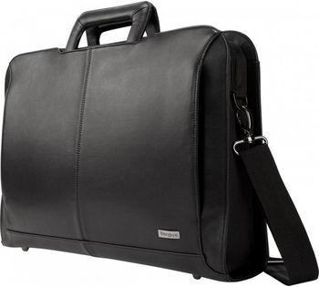 "Targus Executive 14"" Topload Notebook carrying case, PU coated leather, Black, 1.12 kg"