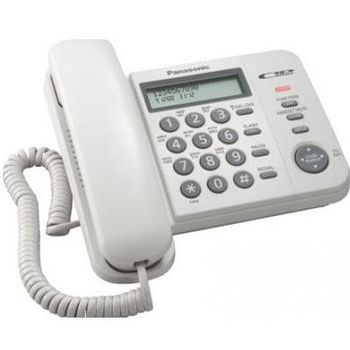 """Telephone Panasonic KX-TS2356UAW, White, LCD, AOH, Caller ID, 16-знач. ЖК-дисплей с часами,  русиф. телеф. книга на 50 номеров, журнал вх. вызовов на 50 записей, блокир-ка набора, выкл-е микрофона, кнопка """"пауза"""", электр-й регулятор громкости"""