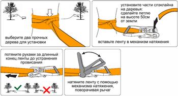купить Ремень Слэклайн 5000 kg 15 m в Кишинёве
