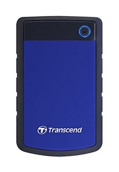 """2.5"""" External HDD 4.0TB (USB3.0)  Transcend StoreJet 25H3P, Blue/Black, MIL-STD-810F, Durable anti-shock RUBBER outer case,  Advanced internal hard drive suspension system, One Touch Backup, Quick Reconnect Button, compatible with Mac OS X"""