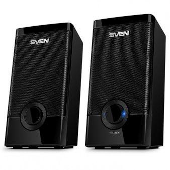 "SVEN 318 Black (USB),  2.0 / 2x2.5W RMS, USB power supply, 2.1"""