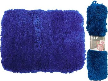 Коврик для ванной комнаты 50X70cm с памятью синий, микрофиб