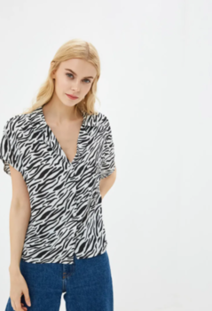 Блуза Jennyfer Черно-белый