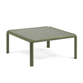 Столик кофейный Nardi KOMODO TAVOLINO VETRO AGAVE 40368.16.501 (Столик кофейный для сада и террасы)