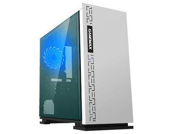 купить Case mATX GAMEMAX EXPEDITION, w/o PSU,1x120mm, Blue LED, USB3.0, Acrylic Window, White в Кишинёве
