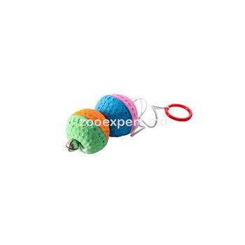 Mячик с колокольчиком на шнурке D 4cm