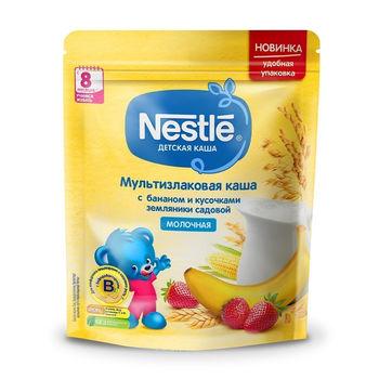 cumpără Nestle Terci cu lapte din cereale cu banană și căpșună 220g în Chișinău