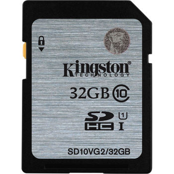 Kingston 32GB SDHC Card Class 10 UHS-I, 300x, Up to:45MB/s