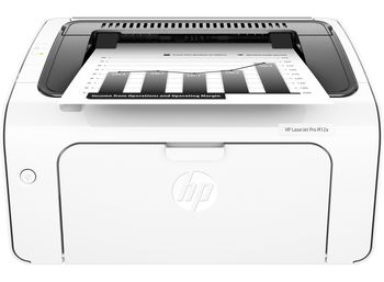 HP LaserJet Pro M12a Printer, A4, 600 dpi, up to 18 ppm, 8MB, Up to 5000 pages/month, USB 2.0, Host-based printing, CF279A Cartridge (~1000 pages) Starter ~500pages