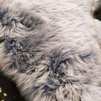 "Шкура из молодой австралийской овечки 2,10-2,20 мX0,65-0,70 м ""BLAUGRAU"" double"