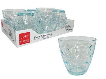 Набор стаканов для воды Flora Azzuro 6шт, 260ml, голубые