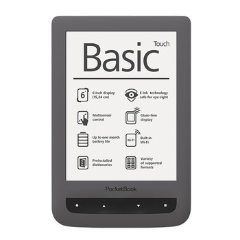 PocketBook 624 Basic Touch Black