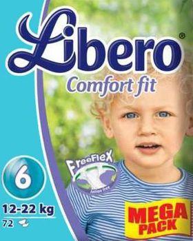 Libero Подгузники Megapack Comfort 6 (12-22кг) (72 шт.)