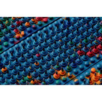 """Пояс Ляпко массажный акупунктурный """"Малыш"""" (6 пластин), 36х84 мм, 3.5 Ag (4710)"""