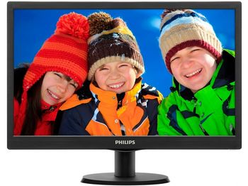 "Monitor 19.5"" PHILIPS LED 203V5LSB26 Black (5ms, 10M:1, 200cd, 1600x900)"