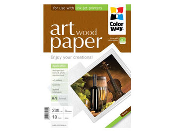 ColorWay Art Wood Glossy Finne Photo Paper, 230g/m2, A4, 10pack