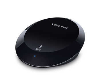 TP-Link HA100, Music Bluetooth Receiver, BT4.1, NFC, 3.5mm or RCA, Stream music wirelessly from your smartphone/tablet to any speaker via Bluetooth, Connect up to 8 different devices, LED indicator, Black