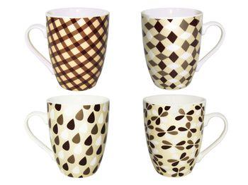 """Чашка черно-белая """"Абстрактный орнамент"""" 330ml"""