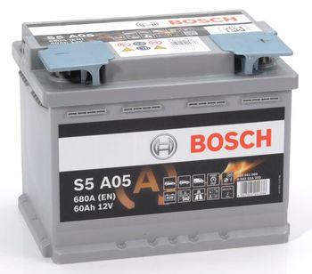 Bosch S5 AGM 12V 60Ah 680EN 242x175x190 -/+