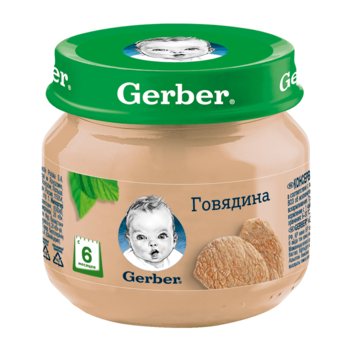 купить Пюре Gerber из говядины, с 6 месяцев, 80г в Кишинёве
