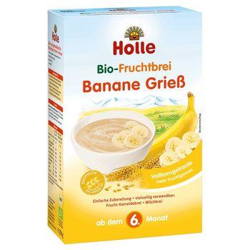 Манная каша с бананом с 6 месяцев Holle Organic, 250 г