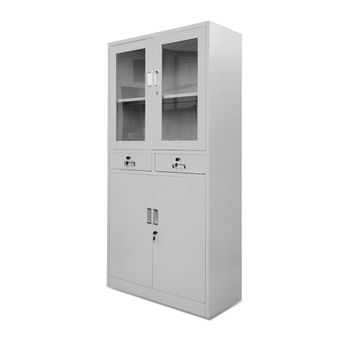 cumpără Dulap metalic pentru dosare cu 4 uși și două sertare, 1800x900x400 mm în Chișinău