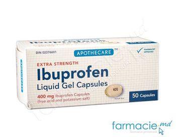 купить Ибупрофен, 400 мг капсулы мягк. N50 в Кишинёве