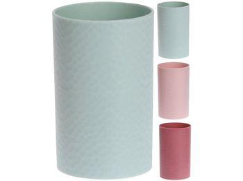 """Pahar pentru periute de dinti """"Diamond"""" D7cm, H11cm, 4 culori, plastic"""